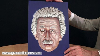 Painted Einstein Hollow Face Optical Illusion - Unbelievable!
