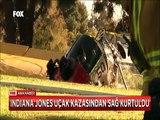 Indiana Jones Harrison Ford golf sahasına çakıldığı uçaktan yaralı kurtuldu