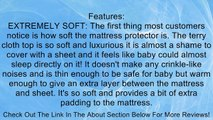 Ultra Soft Crib Mattress Protector Pad From Bamboo Rayon Fiber - Waterproof Fitted Quilted Mattress Protector Pad for Your Crib. High Absorbency and Stain Protection Baby Cover Made for Superior Comfort. Prevents Bacteria, Dust Mites and Mold From Breedin