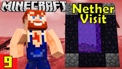 Nether is Dangerous Nik Nikam's EPIC Minecraft Modded Survival Ep 9