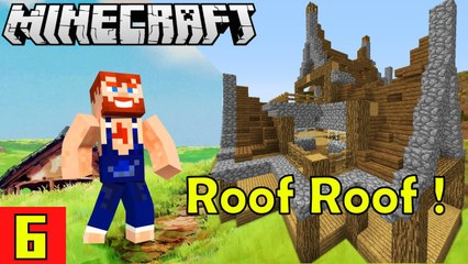 Putting Roof on Top Nik Nikam's EPIC Minecraft Modded Survival Ep 6