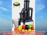 Whole Slow Juicer - Wide Feed Chute Big Mouth Whole Fruit Masticating Juicer - Wide Mouth Low