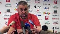 Rugby Top 14 - Christophe Urios réagit après Oyonnax - Toulouse 2e partie
