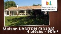 A vendre - Maison/villa - LANTON (33138) - 4 pièces - 90m²