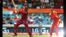 Chris Gayle 215 runs 16 sixes on 147 balls in world cup 2015 vs zimbabwe