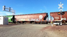 BNSF CSX Virginian heritage UP 982 awesome train
