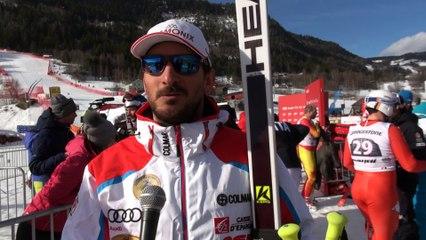 Guillermo Fayed après sa 4ème place en descente à Kvitfjell - Vidéo FFS/EUROSPORT