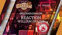 Réaction de William Gradit - J23 - Orléans reçoit l'Elan Chalon