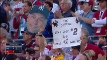 Derek Jeter sale del juego, en su último juego de las estrellas