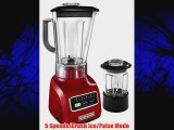 KitchenAid KSB655CER 5-Speed Blender with 56-Ounce BPA-Free Pitcher and 24-Ounce Culinary Jar