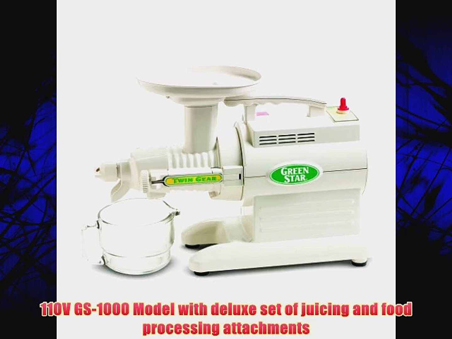 Tribest Green Star GS 3000 Deluxe Twin Gear Juice Extractor