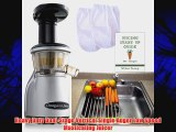 Omega VRT350 Juicer + Folding Drain Rack + 2 Nut Milks Bags + Juicing BookRecipes + CocoDrill