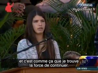 La fille d'Hugo Chavez rend un vibrant hommage à son père.