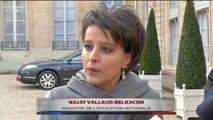 Najat Vallaud-Belkacem réagit à la conférence de presse de François Hollande