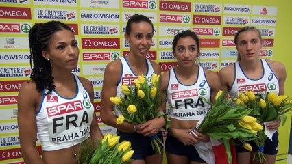 Relais féminin 4x400 m : Les Bleues reines d'Europe !