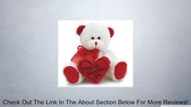 """White & Red """"Happy Valentine's Day"""" Plush Teddy Bear Stuffed Animal Gift Review"""