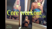 Core/ab workout & refeed day, get that six pack! Womans fitness trainer
