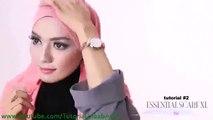 Cara Berjilbab wajah Bulat - Hijab pashmina simple Kreasi Shawlbyvsnow  Hijab Tu