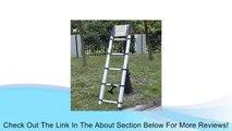 AGPtek� Portable 13 Steps Aluminum Telescoping Ladder Extension Ladder, Maximum Afford Weight :150 KG/330 Lbs, Folding Length: 76 CM, Fully Extension Length: 380CM Review