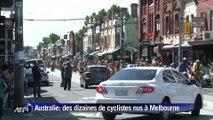 Australie: nus à vélo pour l'environnement et la sécurité