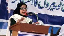 Wafa Sabzwari in All KARACHI urdu debate contest 2012 at SIR SYED