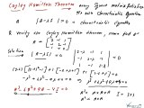 Cayley Hamilton Theorem, Cayley Hamilton Theorem Examples