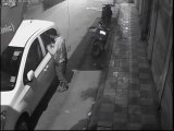 CCTV Footage - Laptop stolen from car within a minute