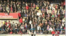 PSG fans don't want to return the ball