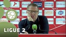Conférence de presse Stade Brestois 29 - Châteauroux (3-0) : Alex  DUPONT (SB29) - Cédric DAURY (LBC) - 2014/2015