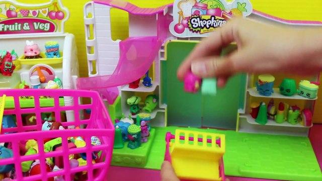 Frozen Kids Shopkins Playset Opening Shopping Cart NEW & Shopkins Collection Felicia DisneyCarToys