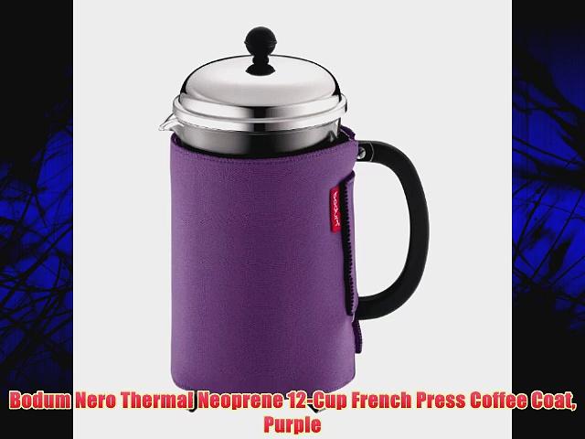 Bodum Nero Thermal Neoprene 12-Cup French Press Coffee Coat Purple