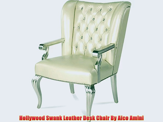 Hollywood Swank Leather Desk Chair By Aico Amini
