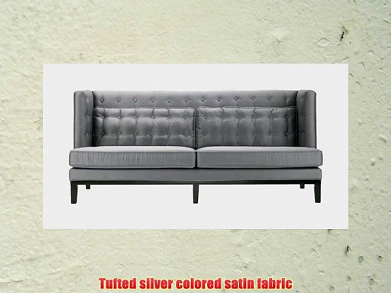 Incredible Armen Living 1006 Noho Sofa Silver Satin Fabric Video Machost Co Dining Chair Design Ideas Machostcouk
