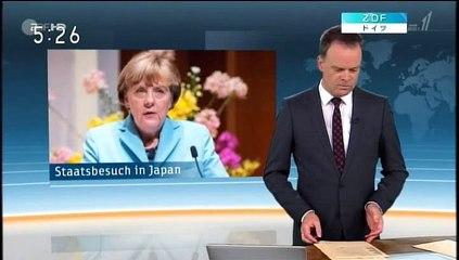 ドイツZDFによるメルケル首相訪日レポート20150309