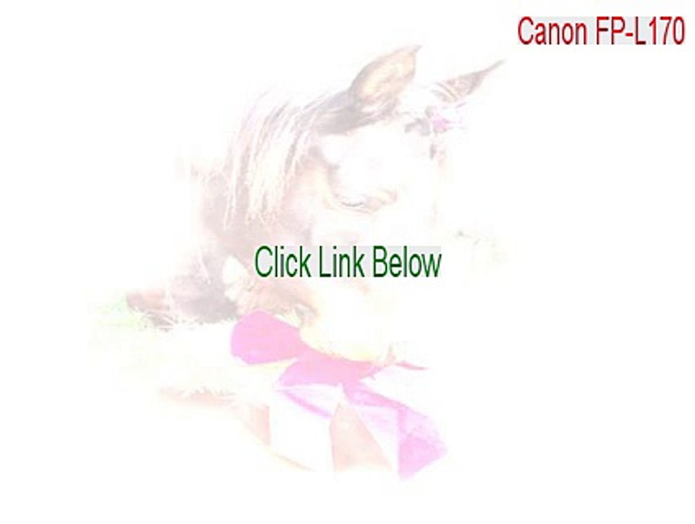CANON FP L170 DRIVERS DOWNLOAD