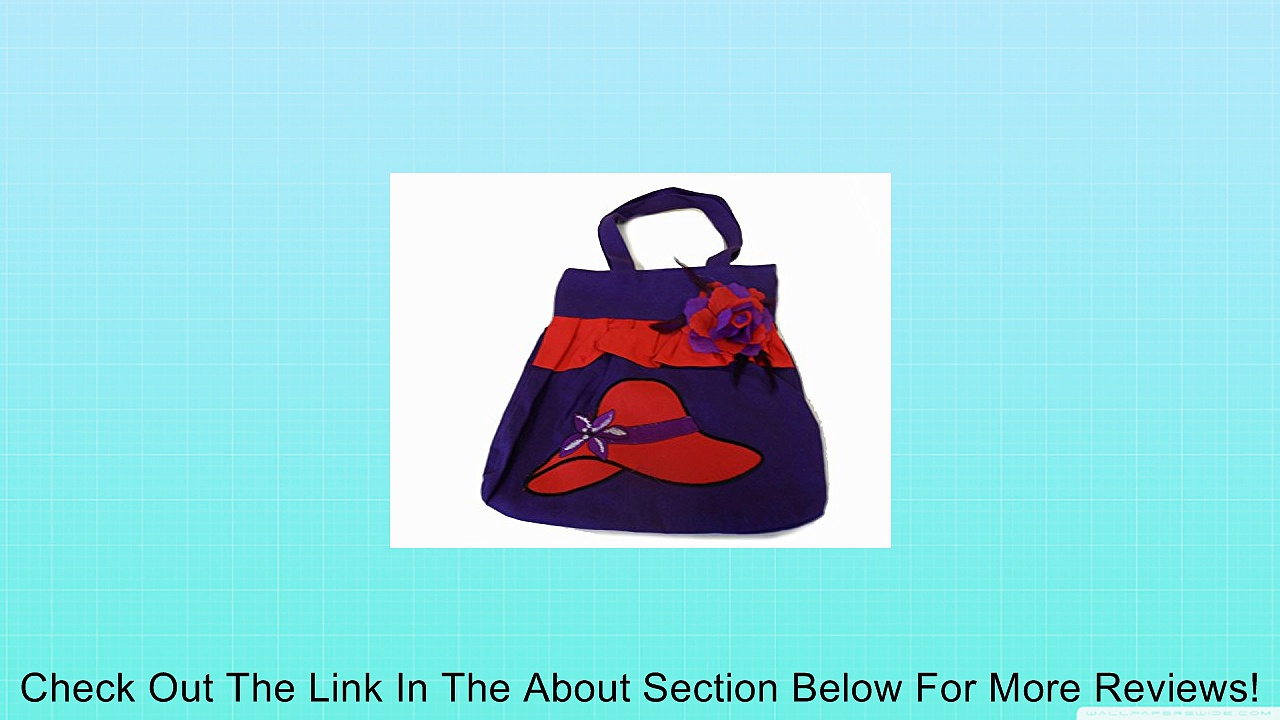 Great Deals! Purple Purse / Red Hat Design / Removable Flower Pin Review
