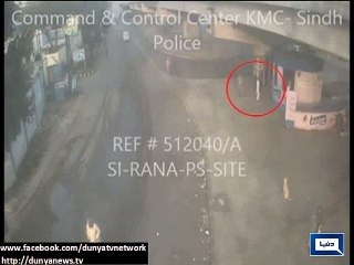 CCTV footage of bomb attack on Rangers in Karachi