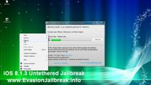 Evasion iOS Untethered Jailbreak 8.1.3 Outil pour l'iPhone 6/5 , iPhone 4, iPhone 3GS , iPad3