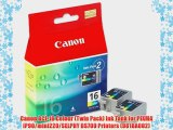 Canon BCI-16 Colour (Twin Pack) Ink Tank for PIXMA iP90/mini220/SELPHY DS700 Printers (9818A002)