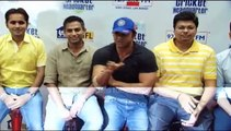 "Sohail Khan With The Winner Of 'BIG'est Cricket Fan Contest At 92,7 ""BIG FM Studios"""