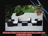 ohana collection PN0807A Genuine Ohana Outdoor Patio Wicker Furniture 8-Piece All Weather Gorgeous