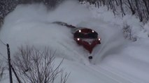 Trains Plow Through Snow Railway Tracks