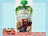 Gerber Third Foods Organic Baby Food Pouch Apples Purple Carrots and Blueberries with Yogurt