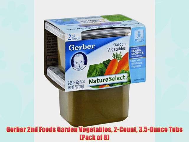 Gerber 2nd Foods Garden Vegetables 2-Count 3.5-Ounce Tubs (Pack of 8)