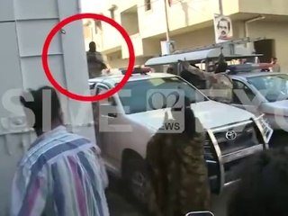 This footage clearly shows that MQM worker Waqas Ali Shah was killed by a protester and not by Rangers