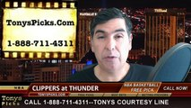 Oklahoma City Thunder vs. LA Clippers Free Pick Prediction NBA Pro Basketball Odds Preview 3-11-2015