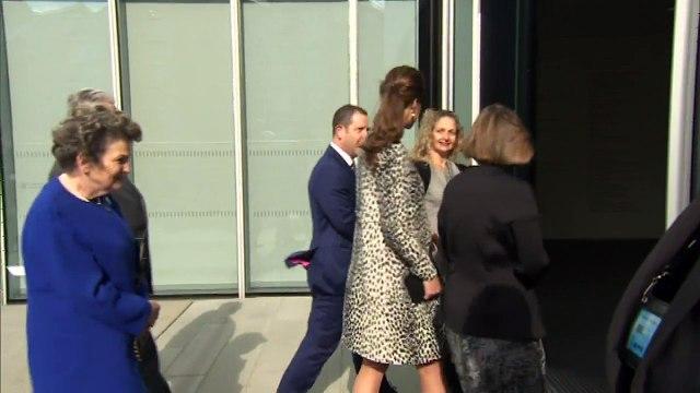 Duchess of Cambridge views art inside Margate gallery
