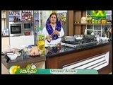 Masala Morning Shireen Anwar - M Nuggets , Beef Cheese Burgers , Strawberry Cream Cake Recipe on Masala Tv - 9th March 2015