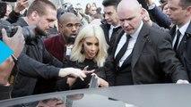 Selena Gomez, Kim Kardashian, Kanye West Almost Get Trampled by Crazy Paparazzi at Paris Fashion Week