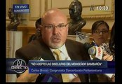 Unión civil: Carlos Bruce no aceptó disculpas de Luis Bambarén